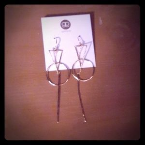 NWT gorjana Geometric dangle gold earrings
